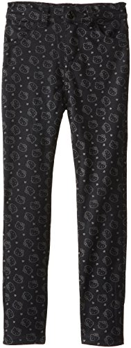 Hello Kitty Big Girls' Stretch Knit Skinny, Anthracite, 10 front-502775
