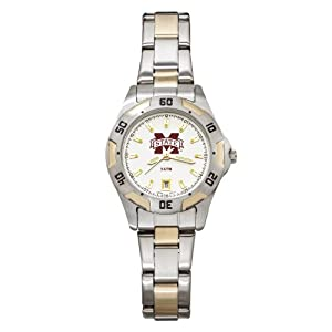 NCAA Mississippi State Bulldogs Ladies All-Pro Two-Tone Watch by Logo Art
