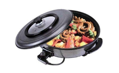 design pizzapfanne wok pfanne paella steak fisch pfanne grill pizza pfanne elektrisch 48cm ean. Black Bedroom Furniture Sets. Home Design Ideas