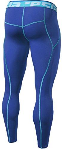 TM-P16-BLSZ_Large j-XL Tesla Men's Cool Dry Compression Baselayer Pants Leggings P16