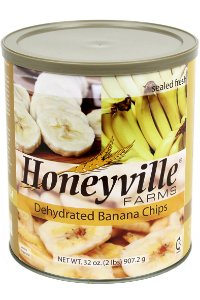 Dehydrated Banana Chips - 2 Pound Can