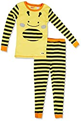SkipHop Little Boys' Zoojamas, Bee, 2T