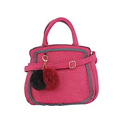 Jewlot Pink PU Women's Handbags 1080