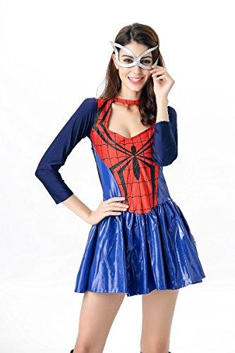 【ドゥラブユー】DoLoveYハロウィン スーパーヒーロー スパイダーマン スパイダー ガール ロンパース 仮装 変装 コスプレ女性 ドレス ワンピース コスチューム レディース