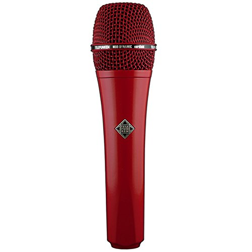 Telefunken M80 | Solid Color Finish Dynamic Series Cardioid Microphone (Red)
