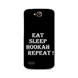 Motivatebox- Hookah Repeat Premium Printed Case For Huawei Honor Holly -Matte Polycarbonate 3D Hard case Mobile Cell Phone Protective BACK CASE COVER. Hard Shockproof Scratch-