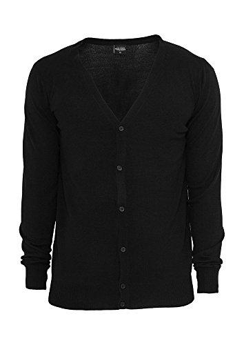 Urban Classics TB405 Knitted Cardigan Uomo Regular Fit (Black, S)