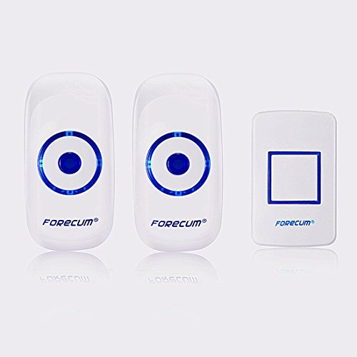 Wireless Doorbell Pager 90-260V Remote Control 1 Transmitter+2 Receivers Waterproof Push Button Elderly Pager Beeper (2 Receivers) (Kit Para Motor compare prices)