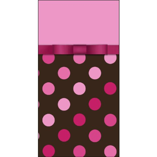 Hallmark Chocolate and Pink Polka Dot Party Tablecover