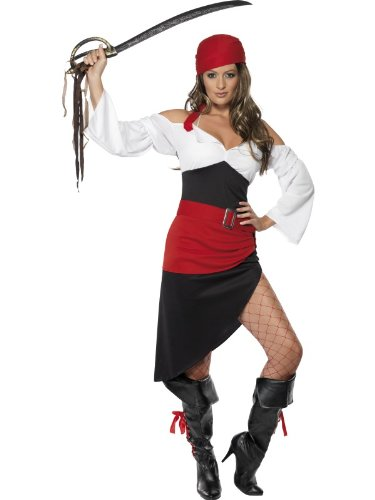 Sassy Pirate Wench Costume - Ladies