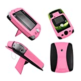 Light Pink Leather Wallet Case for LeapFrog LeapPad 2 II Explorer - Flip Tablet Pouch Cover with Stand + 2 Membrane Screen Protectors
