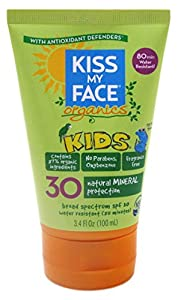 Kiss My Face Spf#30 Organics Kids Sunscreen 3.4oz