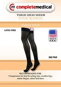Ladies' Moderate Support Thigh High Sheer Pantyhose Color: Beige, Size: Extra Large