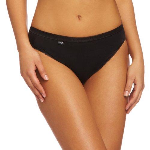 Sloggi Basic Tai 3 Pack Women's Briefs Black Size 18