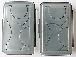 Sterilite Black Transparent Pencil Case Box - 2-Pack