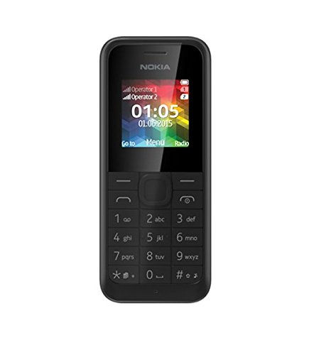 Nokia 105 telefono cellulare, Dual SIM, Nero [Italia]