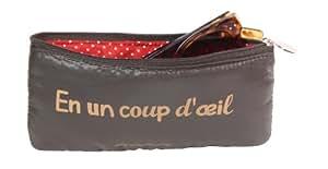 Caroline Lisfranc - Trousse à lunette Doudoune CLIN D ŒIL Marron