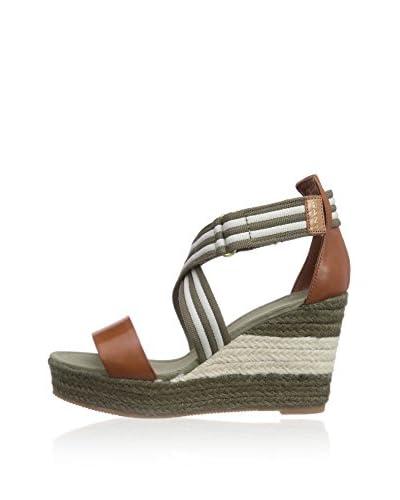 Gant Footwear Sandalo Zeppa Stella [Verde/Marrone]