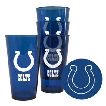 Boelter Brands - Indianapolis Colts Plastic Pint Glass Set