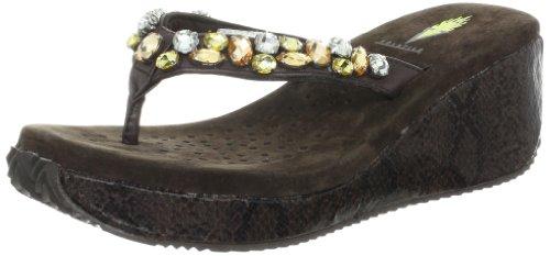 Volatile Women'S Masquerade Wedge Sandal,Brown,8 B Us front-469863