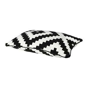 ikea cushion cover white black home kitchen. Black Bedroom Furniture Sets. Home Design Ideas