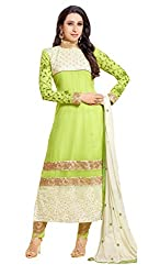 Ombresplash Womens Georgette Dress Material (Os016 _Green _Free Size)