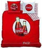 CTI 39850 Housse de Couette 240 x 220 cm + 2 Taies d'Oreiller 63 x 63 cm Coca Cola Cool