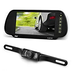 Pyle 7-Inch TFT Mirror Monitor with Rearview Night Vision Camera