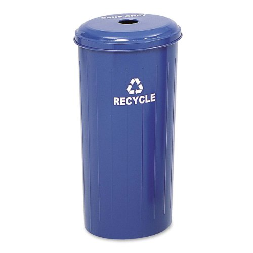 Safco Products 9632BU Tall Round Waste Recycling Receptacle, 20-Gallon, Blue