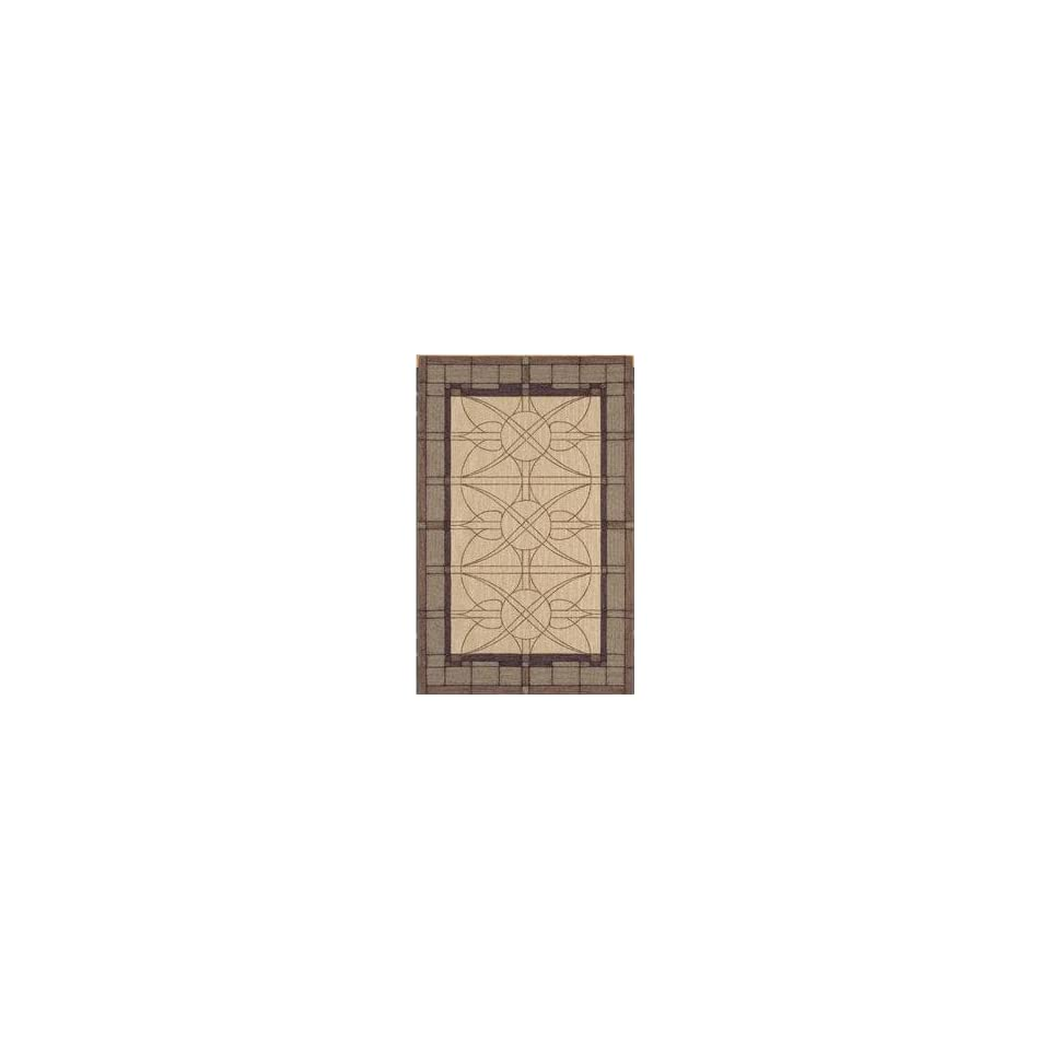 Shaw Nexus Stained Glass Ecru N0008 Contemporary 8 x 11 Area Rug