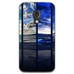 Mott2 Shades Of Blue Back cover for Motorala MOTO G (2G) (Limited Time Offers,Please Check the Details Below)