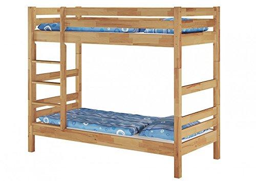 60.17-09 letto a castello in legno di faggio massiccio FSNV 90x200 cm