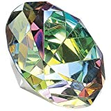 Crystal Clear Faceted Diamond Shaped Paperweight Top Maybe Engraved Apx. 3.5