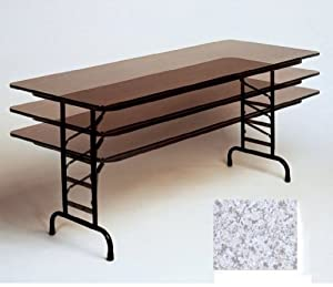"Adjustable Folding Table (Gray Granite) (22-32""H x 30""D x 48""W)"