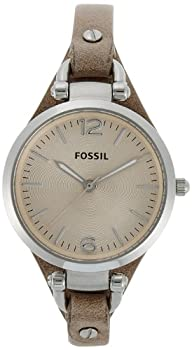 Fossil Women ES2830 Georgia Analog Display Quartz Brown Watch