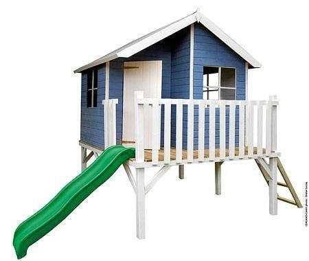 """Baumotte Spielhaus Holz – Kinderspielhaus """"Max"""" mit Rutsche Stelzenhaus günstig online kaufen"""