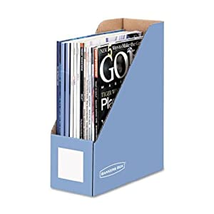 Bankers Box  Magazine File Cornflower Blue 6pk (vf)