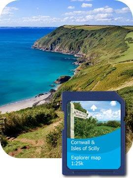 Satmap MapCard : Cornwall/Isles Scilly OS 1:10k  &  1:25k