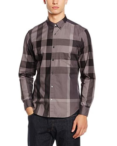 Burberry Camisa Hombre Taupe / Gris