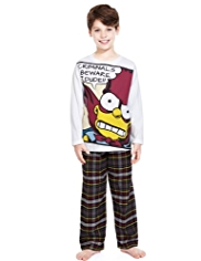 Pure Cotton Bart Simpson Comic Pyjamas
