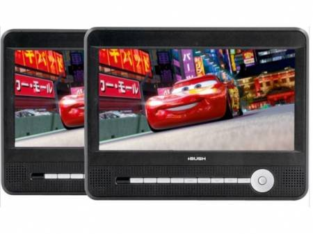 Buy Cheap Bush CCE90W13DUO 9 LCD 2 Movies At Once Twin Dual Screen Portable In Car DVD Players