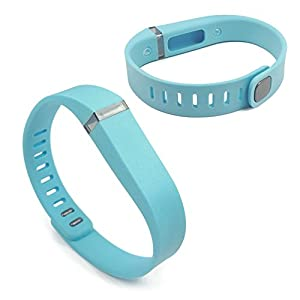 Wristband and clasp for fitbit flex small light blue electronics