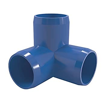 "Way Codo PVC montaje, Muebles Grado, 1 ""Tamaño, Azul: Amazon.com"