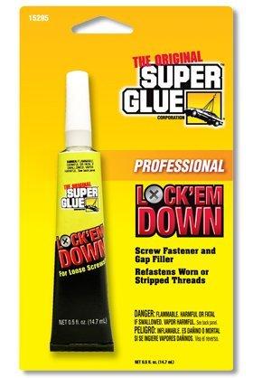 Super Glue Corp. 15295-12 Lock'em Down Adhesive for Screws- Pack of 12