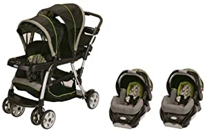 Graco Ready2Grow LX Baby Stoller & SnugRide 30 Twin Travel System - Surrey
