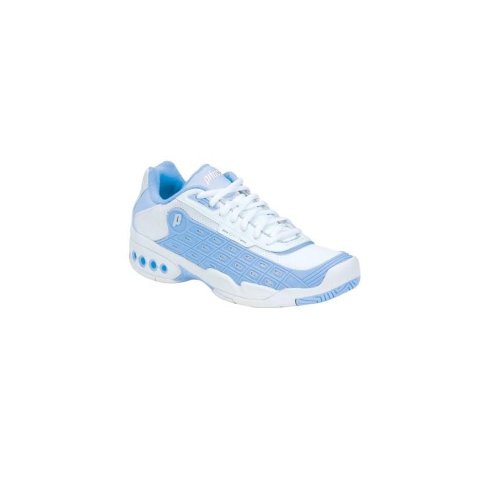 prince womens ov 1 tennis shoe white light blue