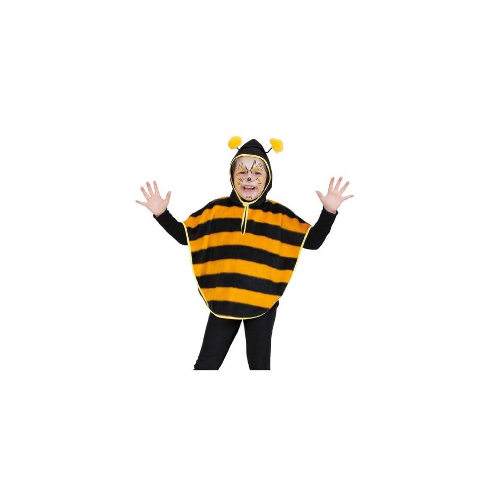 Fasching 10039 Kinder Kost M Cape Biene Mit Kapuze Pl Sch Umhang