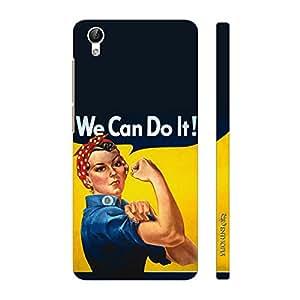 Enthopia Designer Hardshell Case We Can Do It! Back Cover for Vivo Y51L