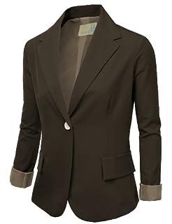 J.TOMSON Womens Tailored Boyfriend Blazer