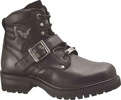 Women's Thorogood Lace & Buckle Biker Boots Black, BLACK, 6